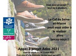 Appel à projets adolescents sur l'année 2021